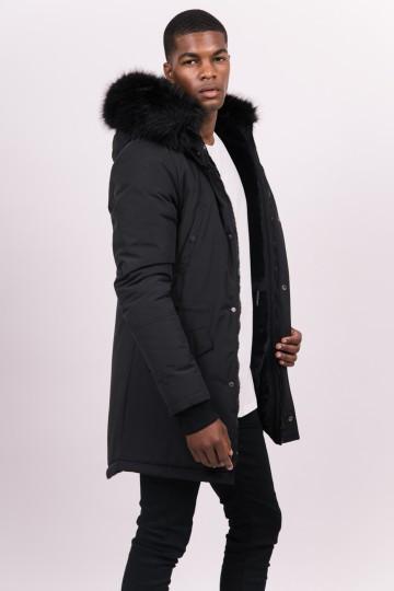 Pánska čierna bunda na zimu Sixth June Nylon Lining Fur Parka ... dc2ae1cec33