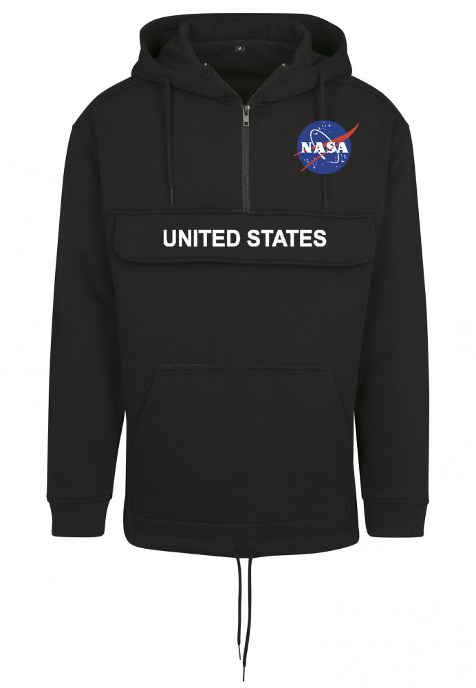 Pánska čierna mikina MR.TEE NASA Definition Pull Over Hoody Farba: black,