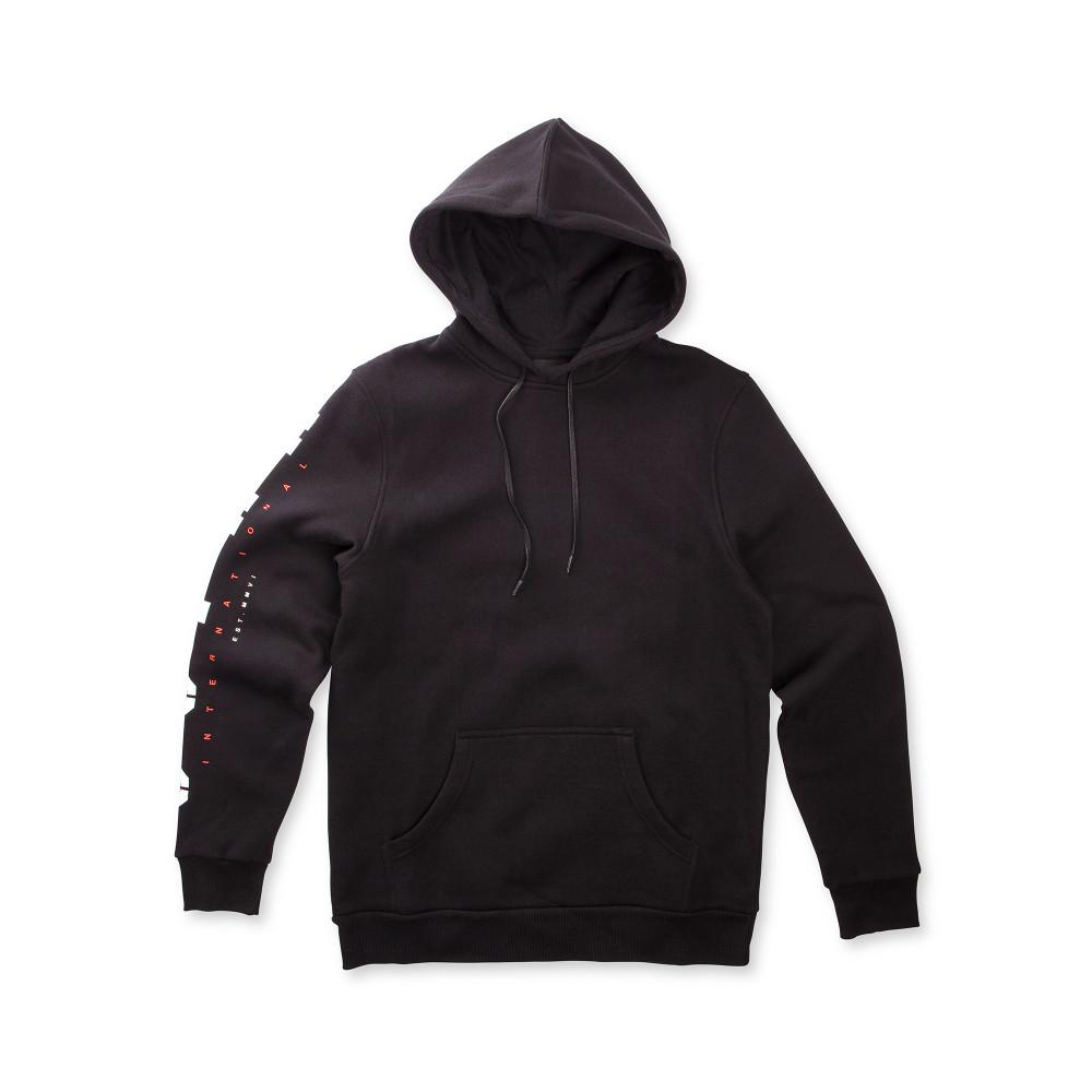 Pánska čierna mikina s kapucňou Supra - Pánske mikiny - Locca.sk fea71e0476b