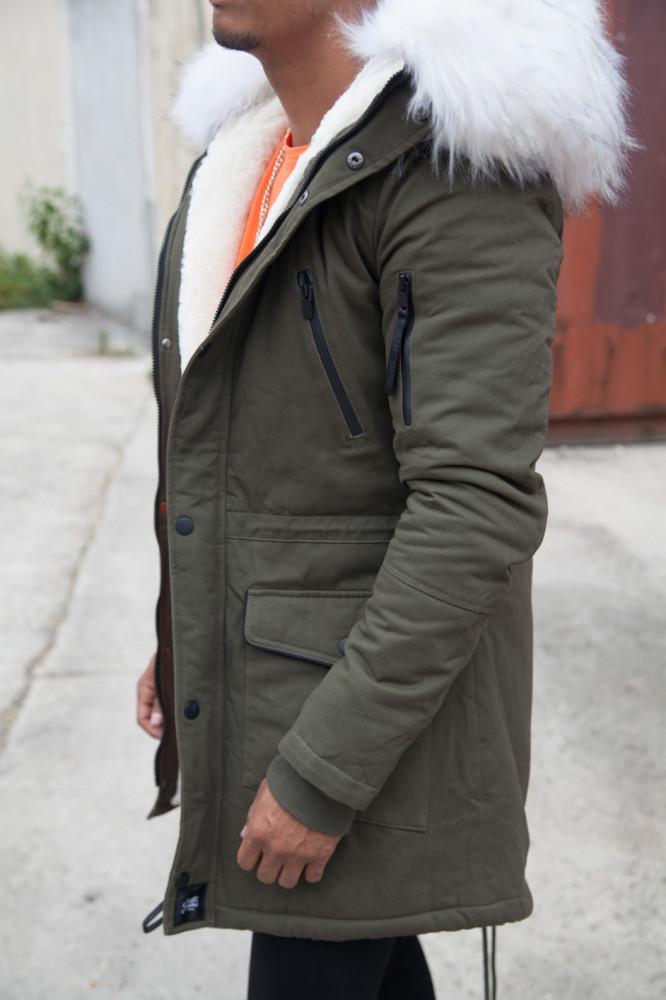 Pánska khaki zimná bunda Sixth June Parka - Pánske bundy - Locca.sk a6f46d4a81f