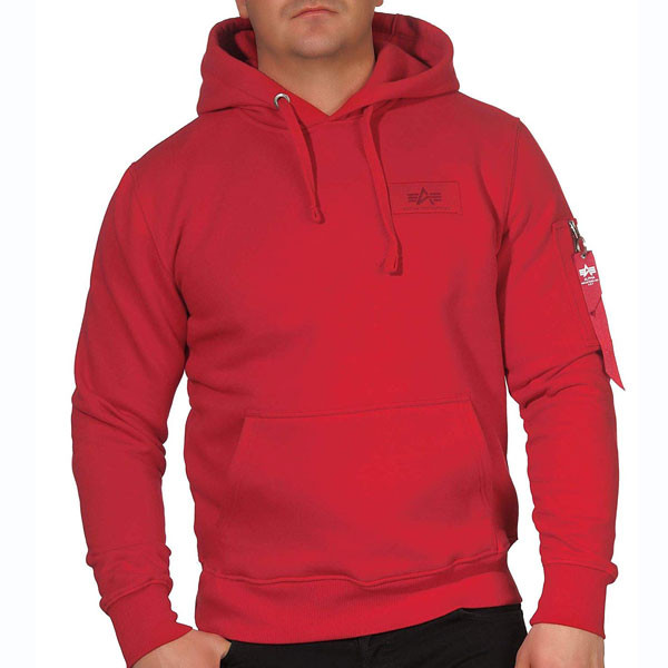 Pánska mikina Alpha Industries Back Print Hoody Red Size: XL