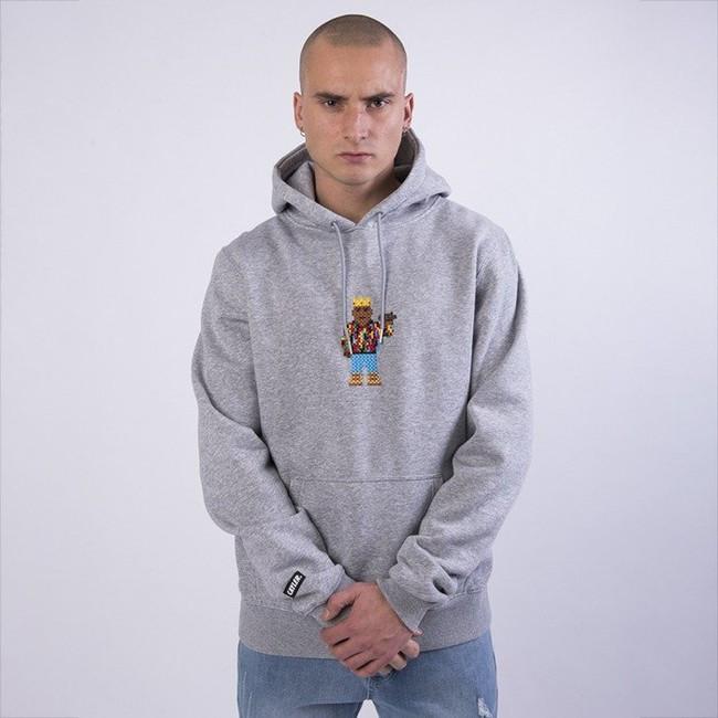 Pánska mikina Cayler & Sons WHITE LABEL Sweatshirt WL Constructed Hoody heather grey / mc