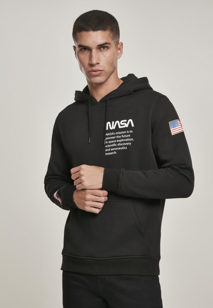 Pánska mikina MR.TEE NASA Definition Hoody Farba: black,