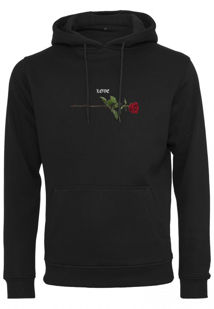 Pánska mikina MR.TEE Rose Love Hoody Farba: black, Grösse: XXL