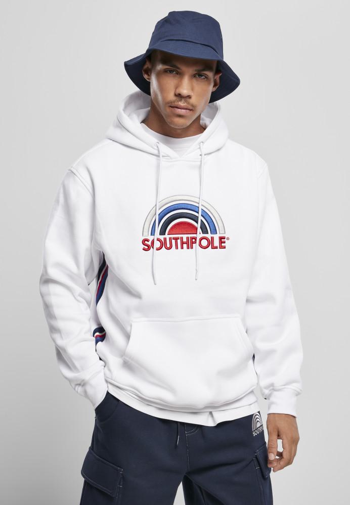 Pánska mikina Southpole Multi Color Logo Hoody Farba: white,