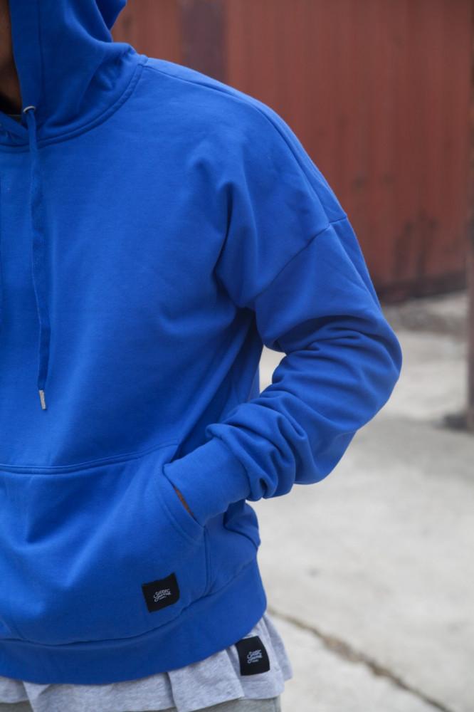 Pánska modrá mikina s kapucňou Sixth June Dropped Shoulders - Pánske ... 0f2f6c28803
