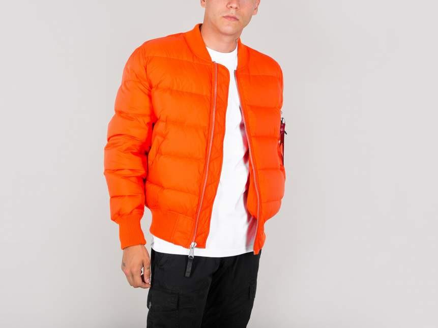 Pánska oranžová zimná bunda Alpha Industries MA-1 Puffer - Pánske ... e357c97d1db
