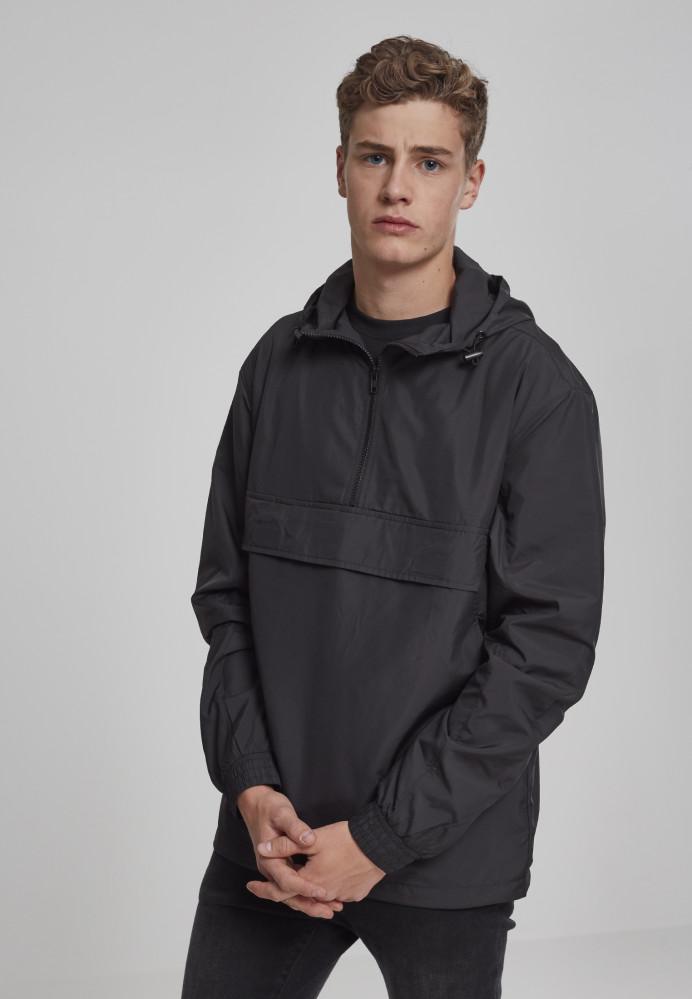 Pánska bunda URBAN CLASSICS Basic Pull Over Jacket black