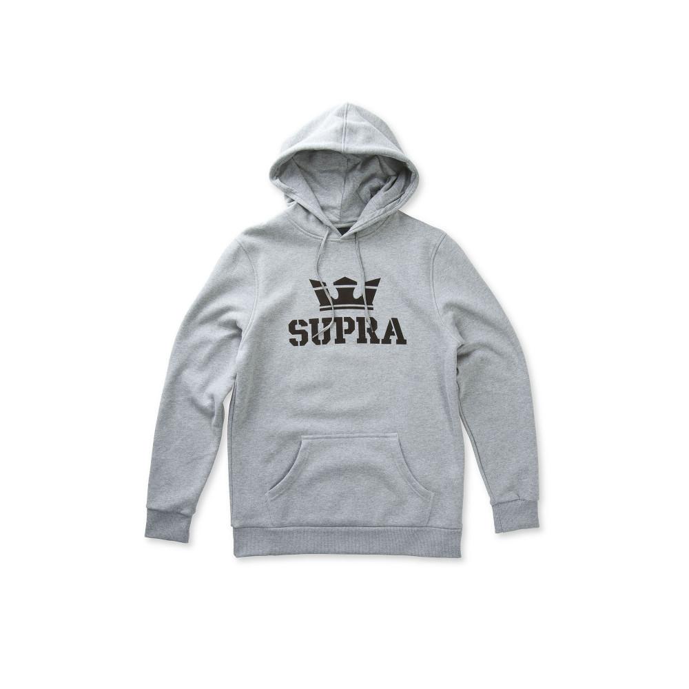 Pánska šedá mikina s kapucňou Supra Above - Pánske mikiny - Locca.sk 47a98fc4712