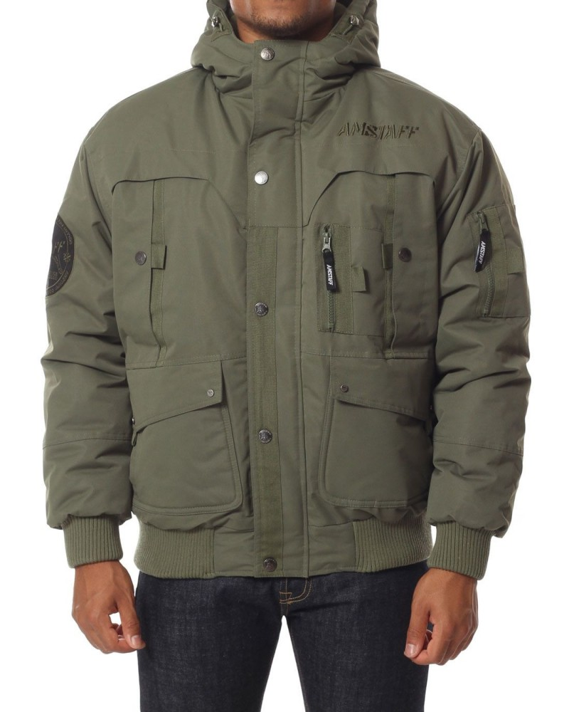 7bd84e65da67 Pánska zimná bunda Amstaff Conex Winterjacket Olive - Pánske bundy ...