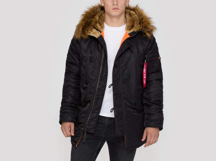Pánska zimná bunda parka Alpha Industries N3B VF 59 Parka Jacket Black