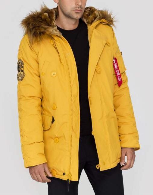 Pánska žltá zimná bunda Alpha Industries Explorer