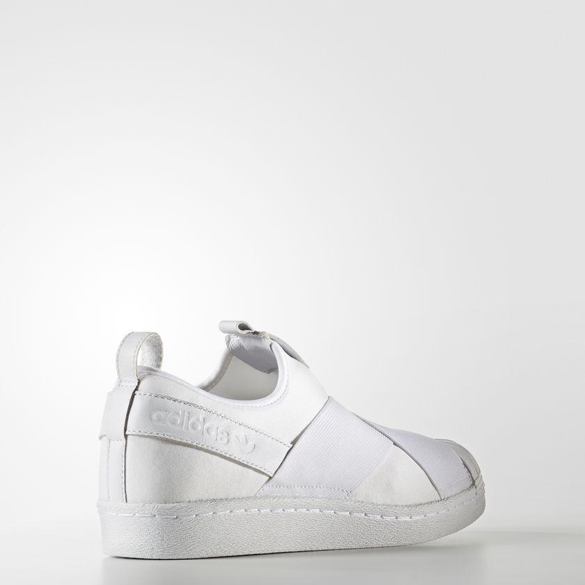 Pánske biele textilné tenisky Adidas Originals Superstar Slip-On ... 0ff6c89f65