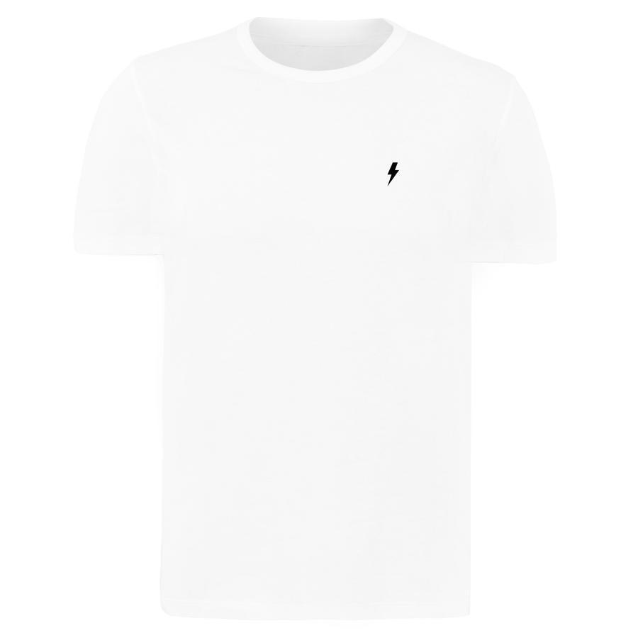 4f1af512f20e Pánske biele tričko s krátkym rukávom Alive Micro Bolt Tight Tee ...