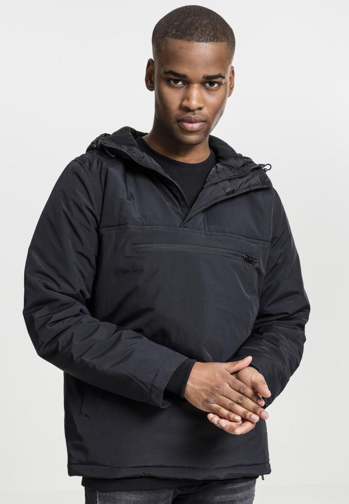 Pánske bunda Urban Classics Padded Pull Over Jacket black