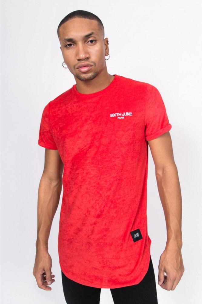 Pánske červené tričko Sixth June Towel Logo