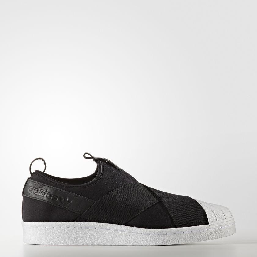 Pánske čierne textilné tenisky Adidas Originals Superstar Slip-On ... b8b362d0f62