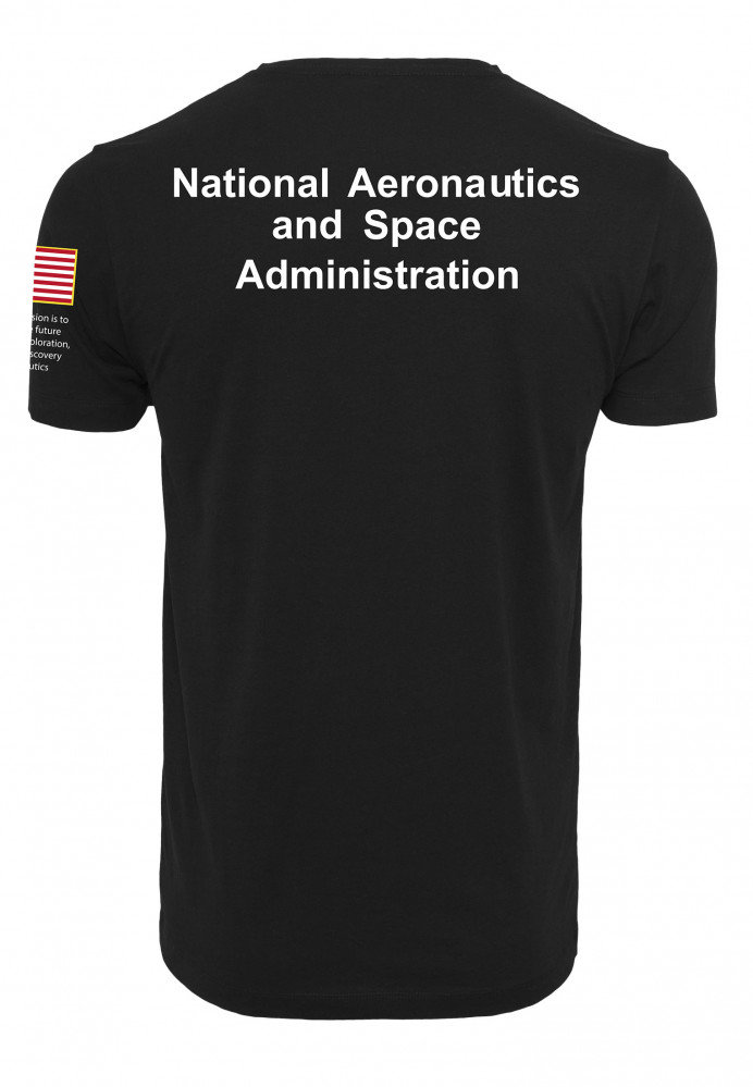 Pánske  čierne tričko MR.TEE NASA Insignia Logo Flag Tee Farba: black,