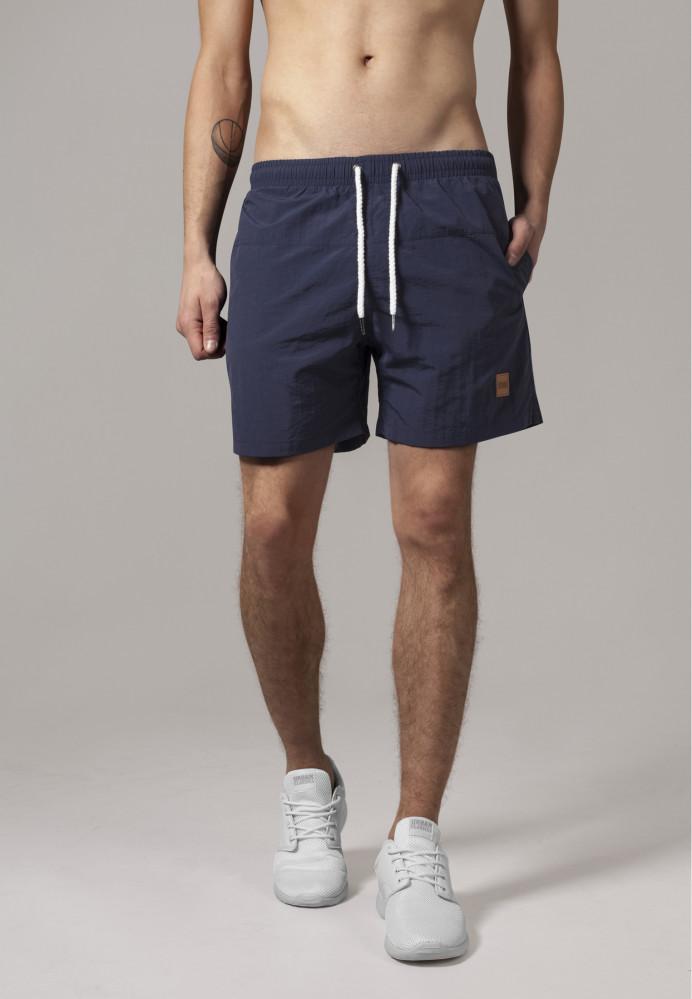 Pánske kúpacie kraťase Urban Classics Block Swim Shorts navy/navy