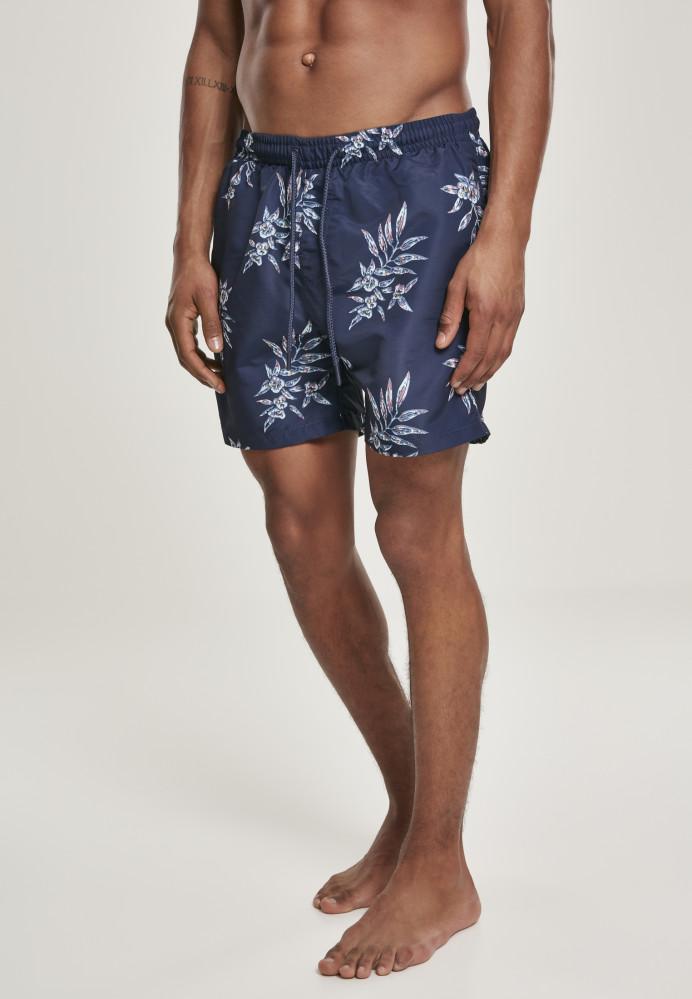 Pánske kúpacie kraťase Urban Classics Pattern Swim Shorts subtile floral