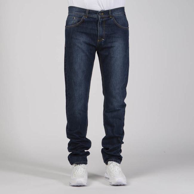 Pánske nohavice Mass Denim Signature Jeans Tapered Fit dark blue - W Size: W 36