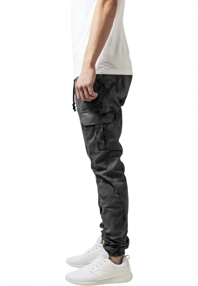 4b3918600afc Pánske nohavice URBAN CLASSICS Camo Cargo Jogging Pants grey camo ...