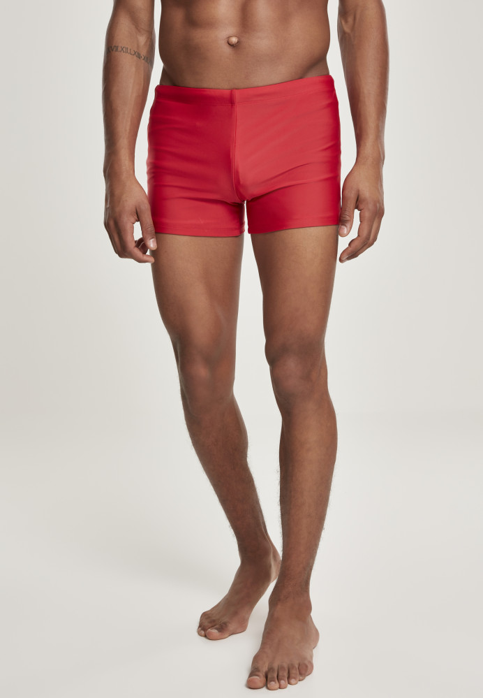 Pánske plavky URBAN CLASSICS Basic Swim Trunk červené