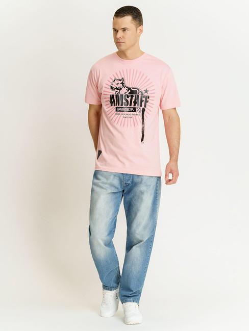 Pánske ružové tričko Amstaff Aponi T-Shirt Size: 3XL