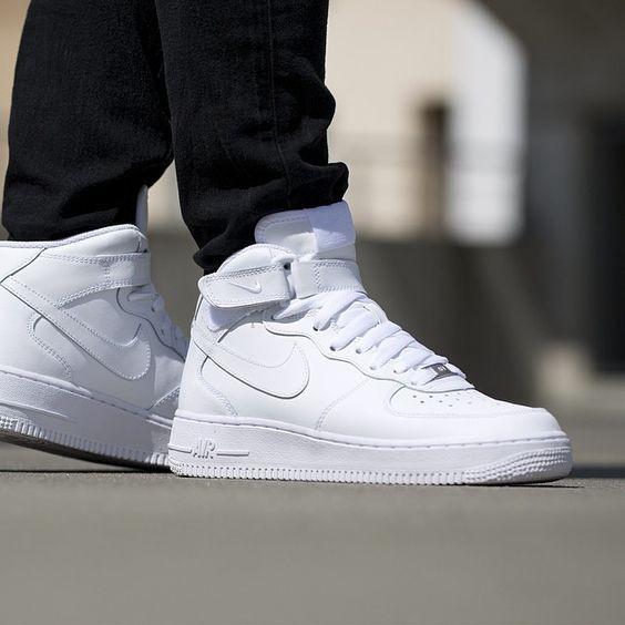 Pánske tenisky Nike Air Force 1 Mid `07 White - Pánske tenisky ... 7cd75d31ff0