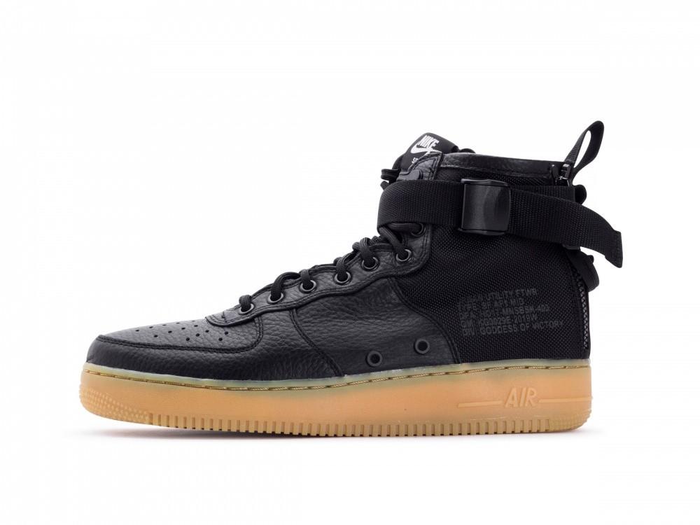 ff76290f758 Pánske tenisky Nike SF Air Force 1 Mid Black Gum - Pánske tenisky ...
