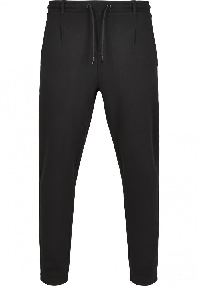 Pánske tepláky URBAN CLASSICS Formula Cropped Peached Interlock Pants black