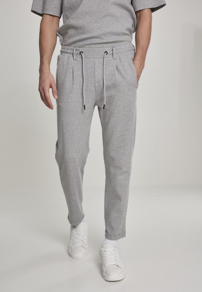 Pánske tepláky URBAN CLASSICS Formula Cropped Peached Interlock Pants grey