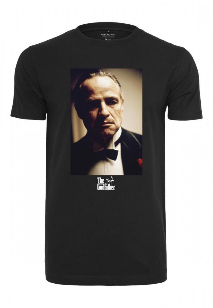 Pánske tričko MERCHCODE Godfather Portrait Tee Farba: black,
