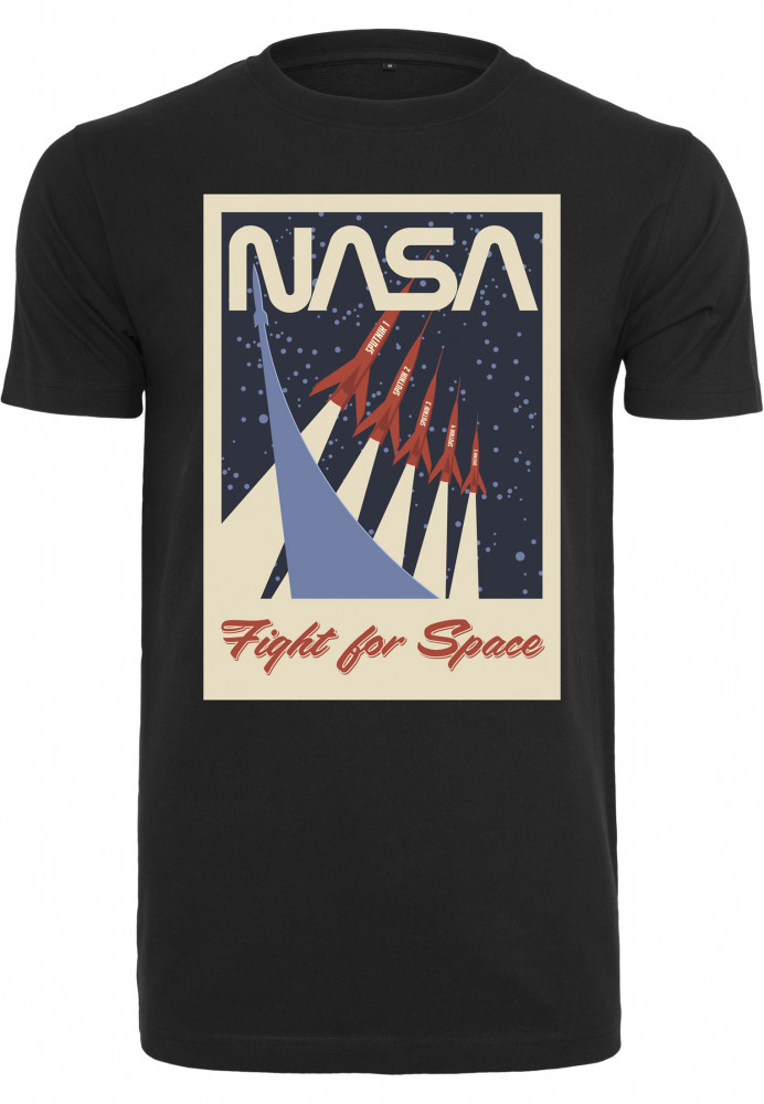Pánske tričko MR.TEE NASA Fight For Space Tee Farba: black,