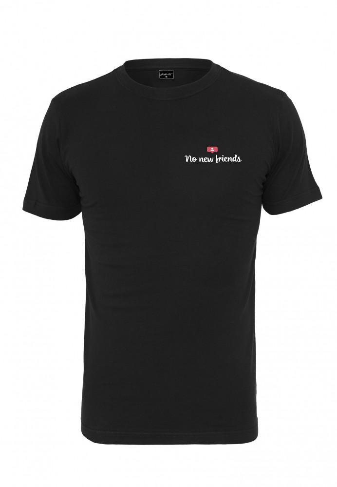 Pánske tričko MR.TEE No New Friends Tee Farba: black,