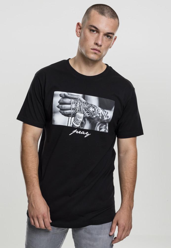 Pánske tričko MR.TEE Pray 2.0 Tee Farba: black,