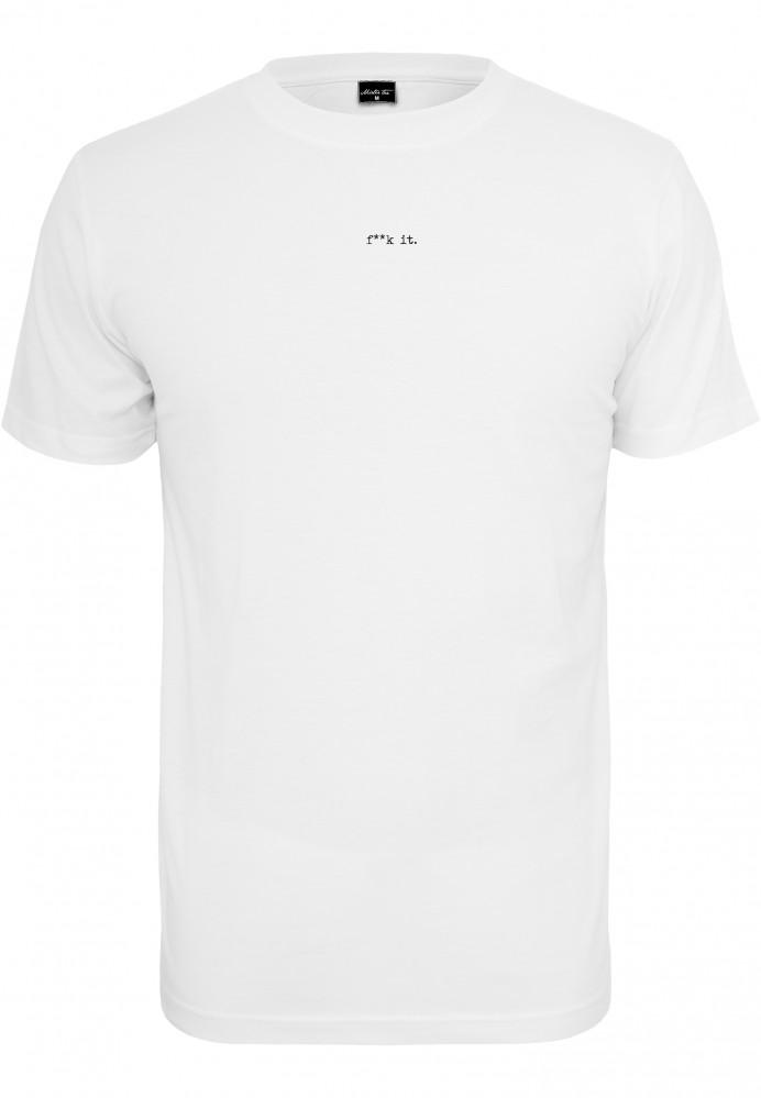 Pánske tričko MR.TEE Small Fxxk It Farba: white,