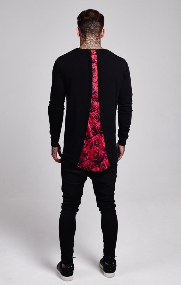 2785747cd88d7 Pánske tričko s dlhým rukávom Sik Silk Rose Racer Back Black Farba: Čierna,  #