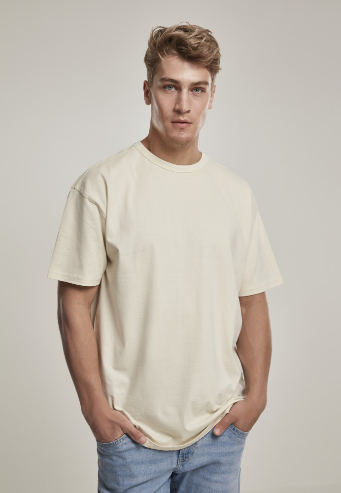 Pánske tričko s krátkym rukávom URBAN CLASSICS Organic Basic Tee sand