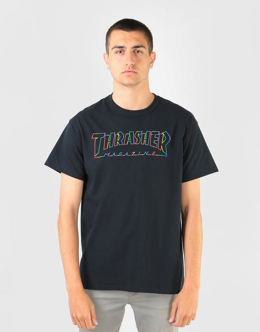 Pánske tričko Thrasher SPECTRUM S/S Black