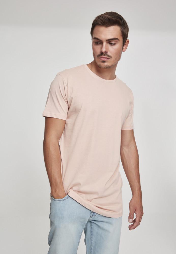 24860dbec401 Pánske tričko URBAN CLASSICS SHAPED LONG TEE LIGHT ROSE - Pánske ...