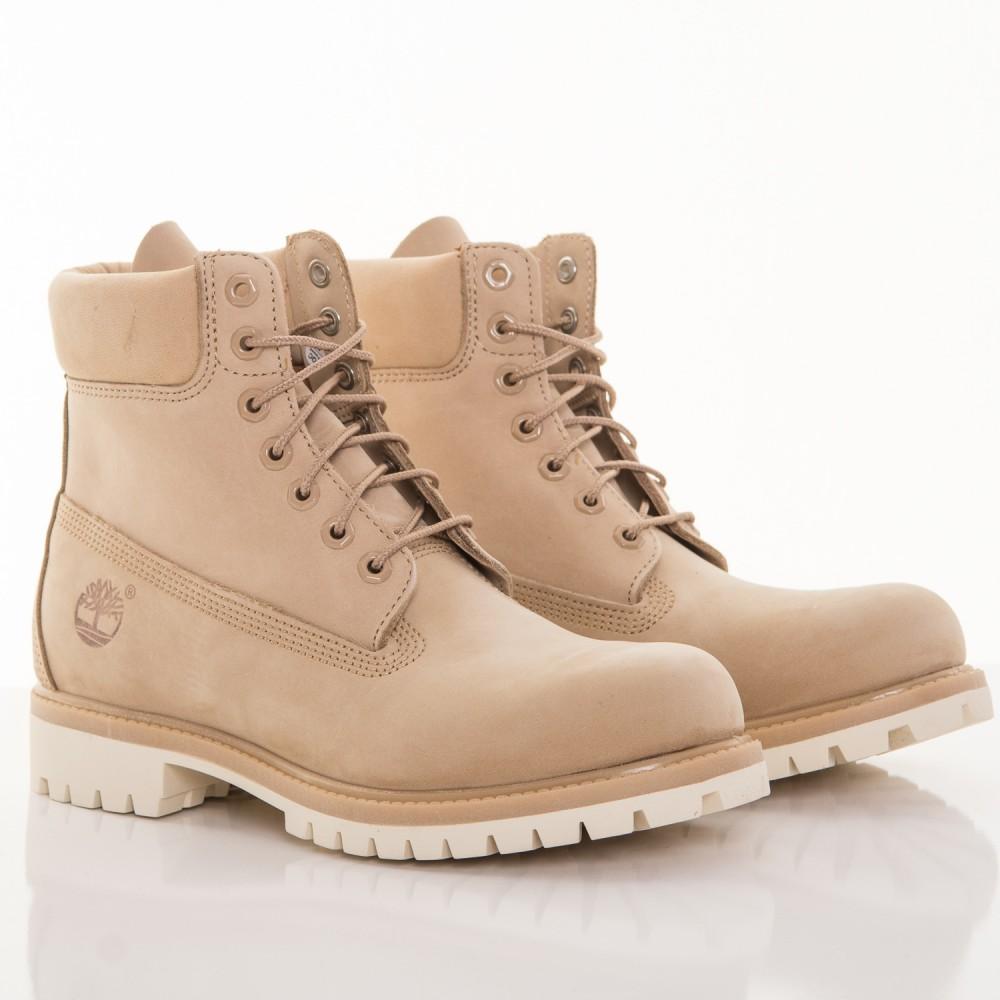 Pánske vodeodolné béžové kožené zimné topánky Timberland ICON 6-INCH ... a59dd9613f6