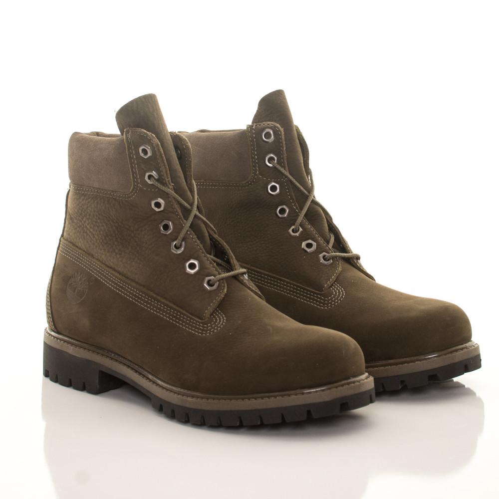 be9d813179 Pánske vodeodolné olivové zimné topánky Timberland 6-Inch Icon ...