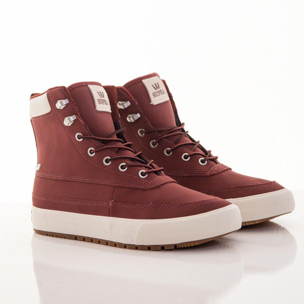 5581fb531d5c0 Pánske zimné kožené bordové topánky Supra Suprawood - Pánske tenisky ...