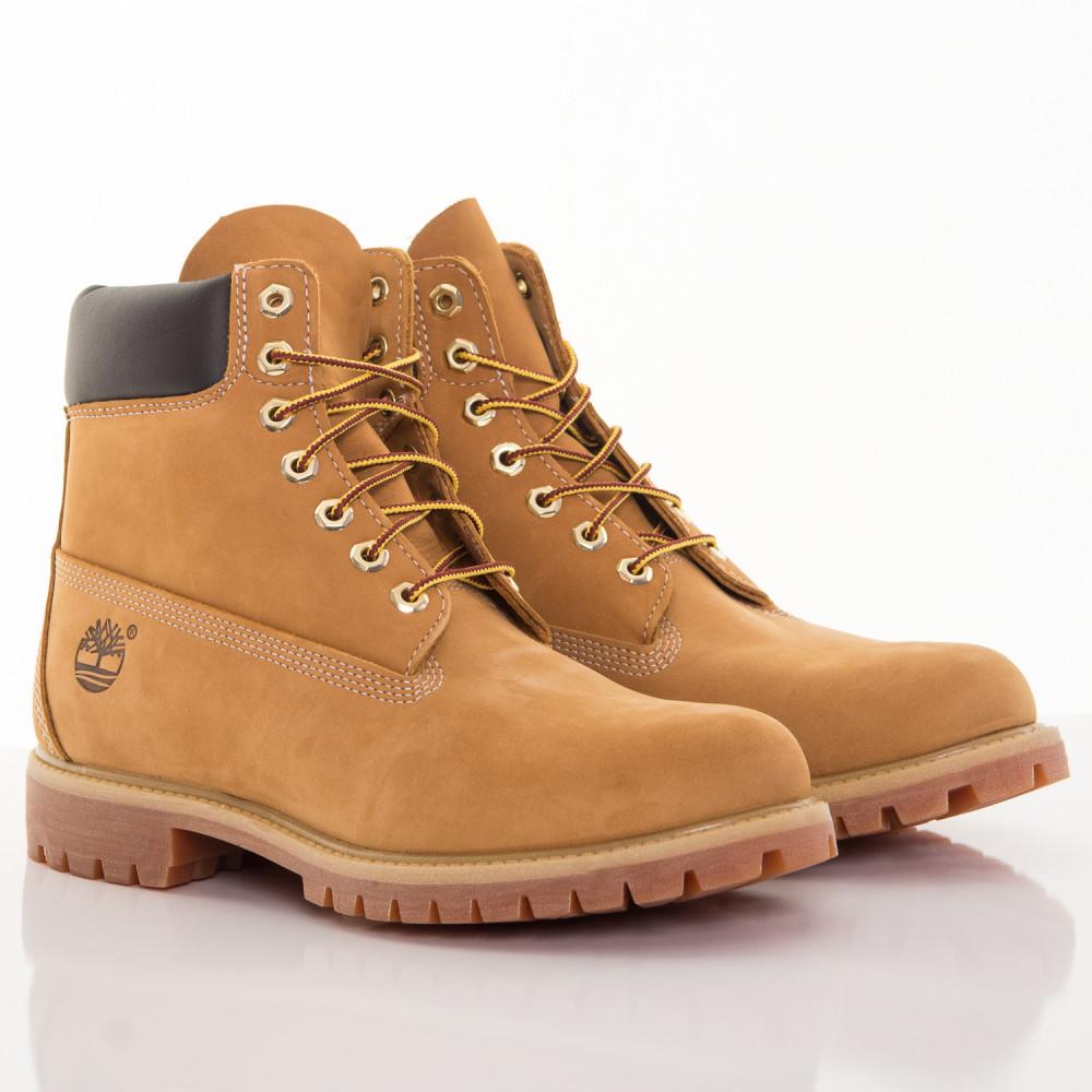 Pánske žlté vodeodolné kožené zimné topánky Timberland 6-INCH ... e5b5afbb86e
