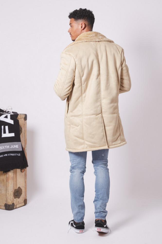 Pánsky béžový kabát Sixth June - Pánske kabáty - Locca.sk d1c695523b2