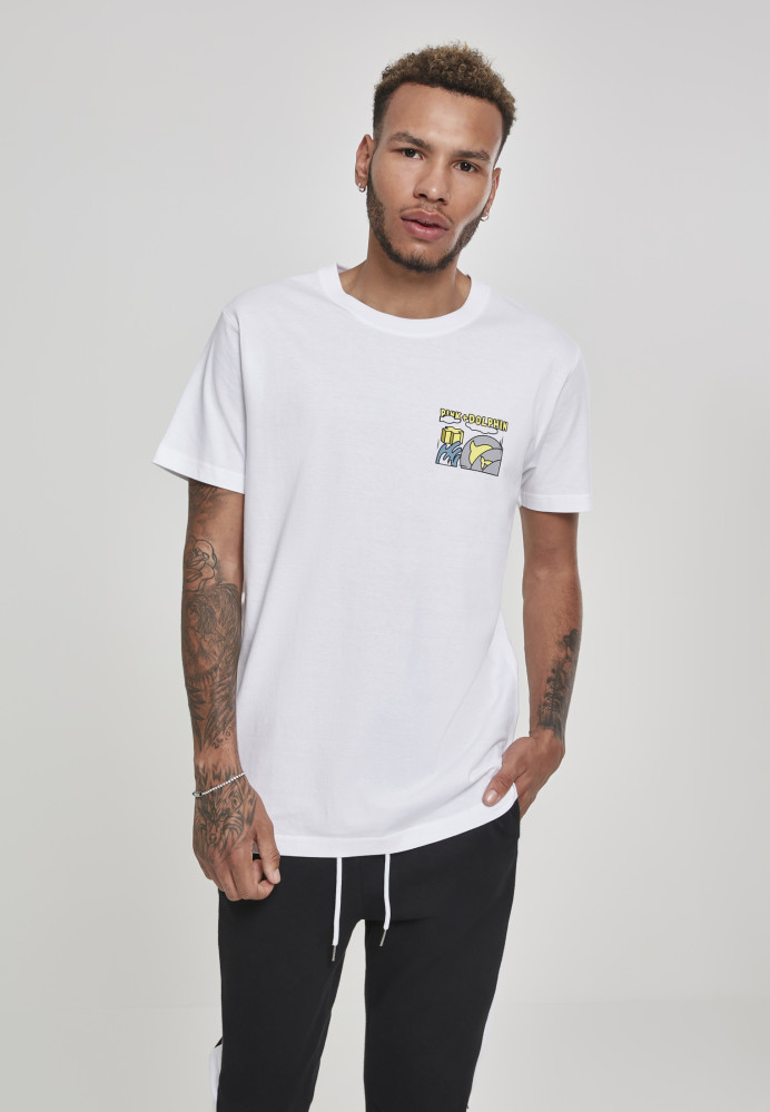 PINK DOLPHIN Level Up Tee Farba: white,