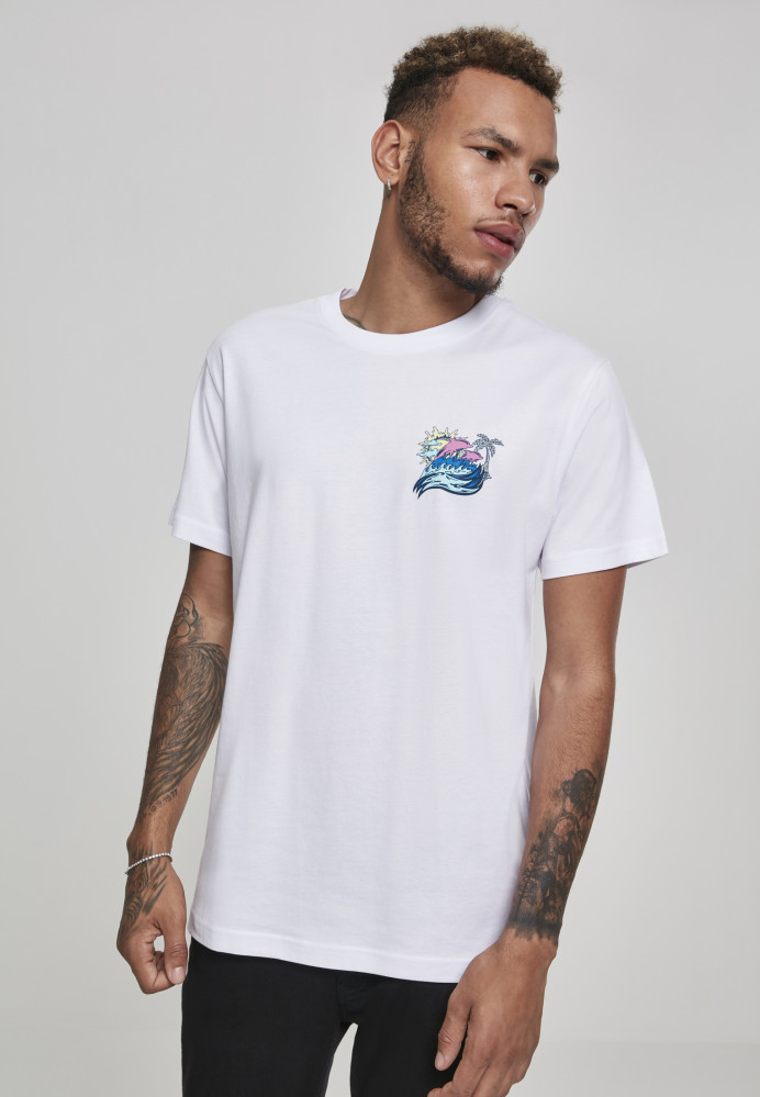 PINK DOLPHIN Roll Tide Tee Farba: white,