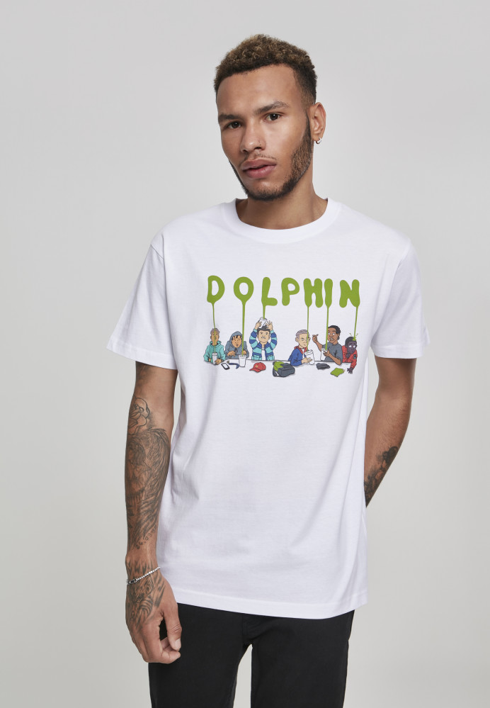 PINK DOLPHIN Supper Tee Farba: white,