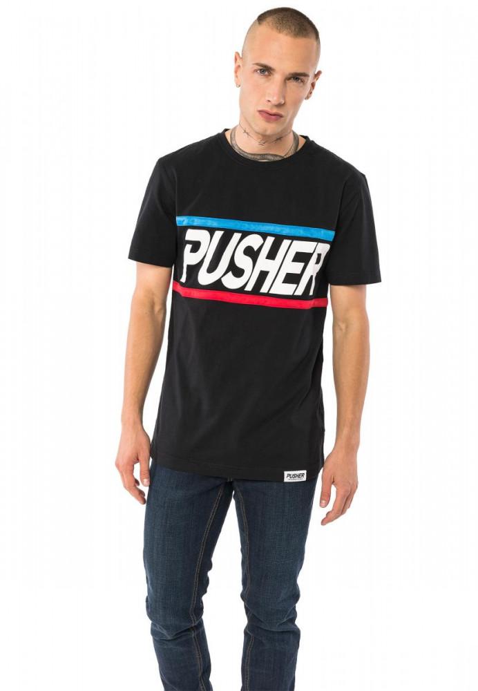 PUSHER More Power Tee Farba: black,